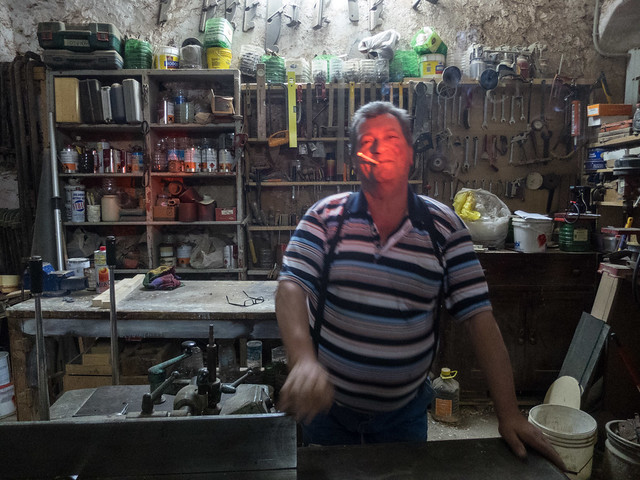 A craftsman in his workshop