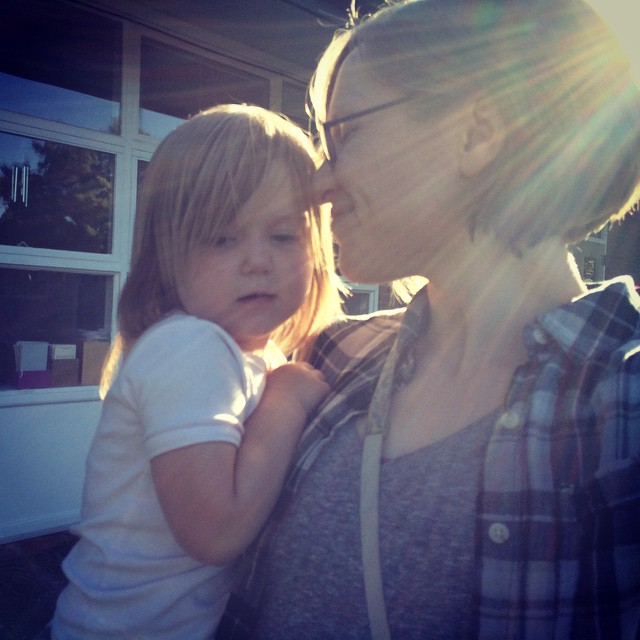 Me and my girl, plus lens flare.