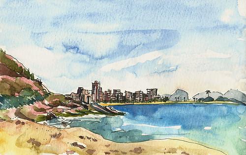 View of Ipanema from Sheraton, Rio de Janeiro, Brazil