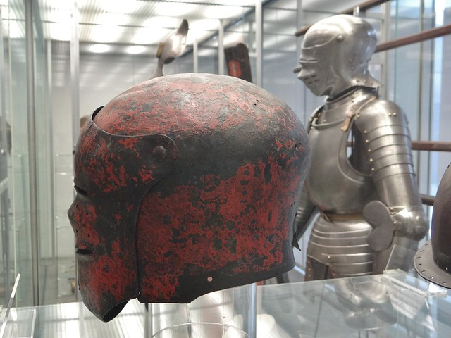 ca. 1500-1510 - 'painted sallet', South German, Germanisches Nationalmuseum, Nürnberg, Bayern, Germany