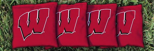WISCONSIN BADGERS RED CORNHOLE BAGS