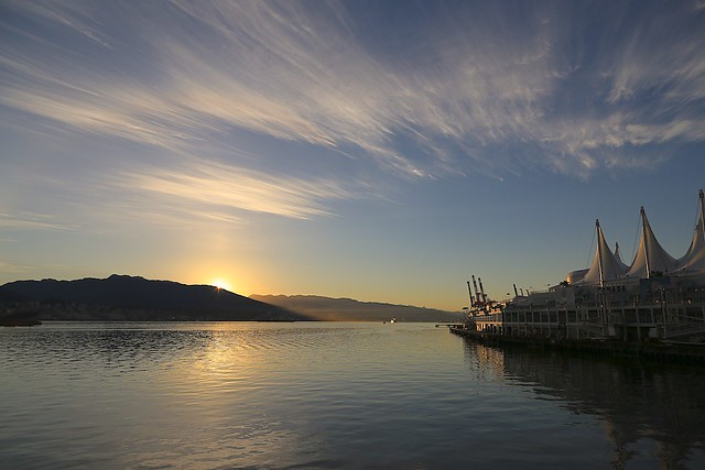 Holiday sunrise over Burrard Inlet, Canada Day, Vancouver, BC, Canada, fotoeins.com