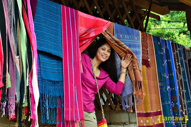 Beautiful weaving at a Karen village