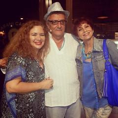 Com Jorge Salomão e Vera Vianna em noite inesquecível #BlogAuroradeCinemaregistra