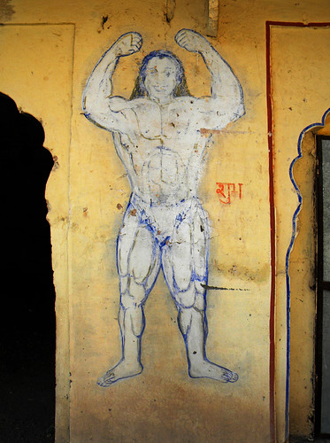 Indian Muscleman at Bundi Fort