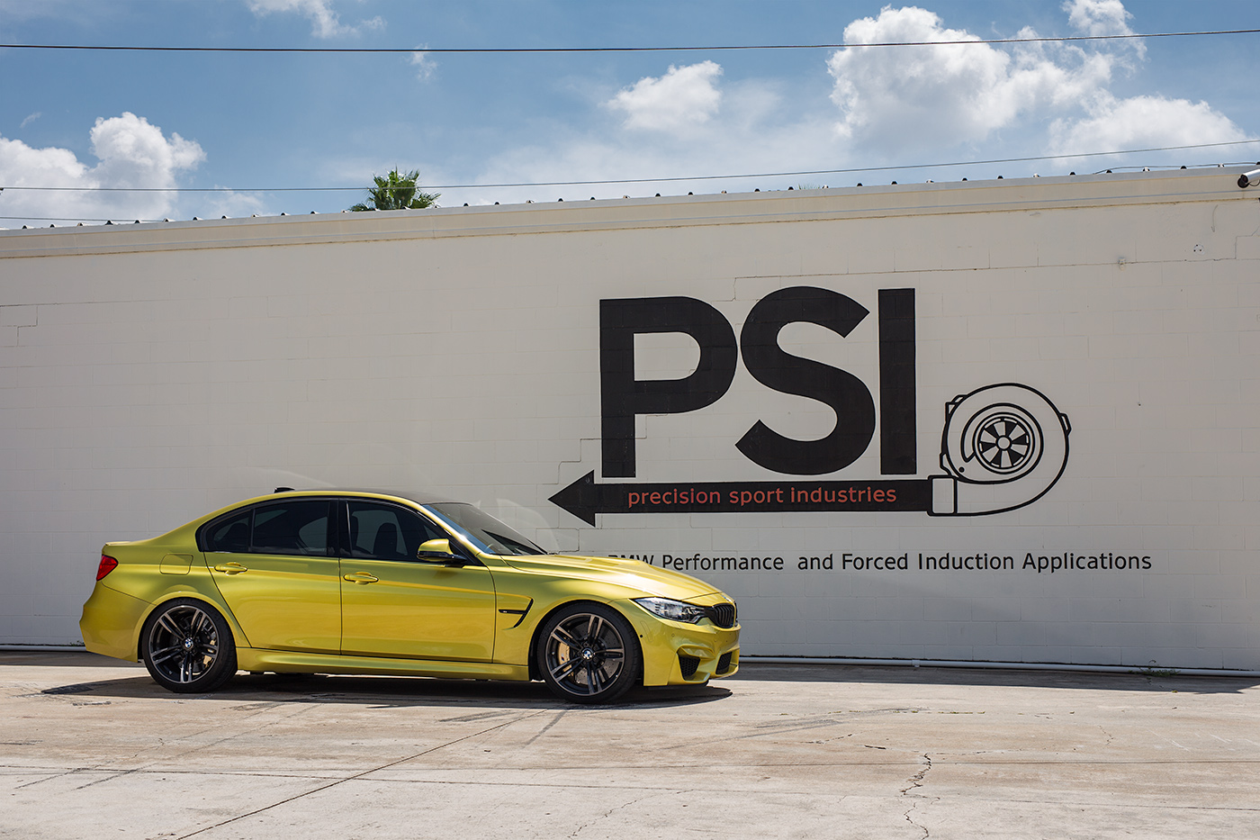 Austin Yellow F80 M3 In For Upgrades