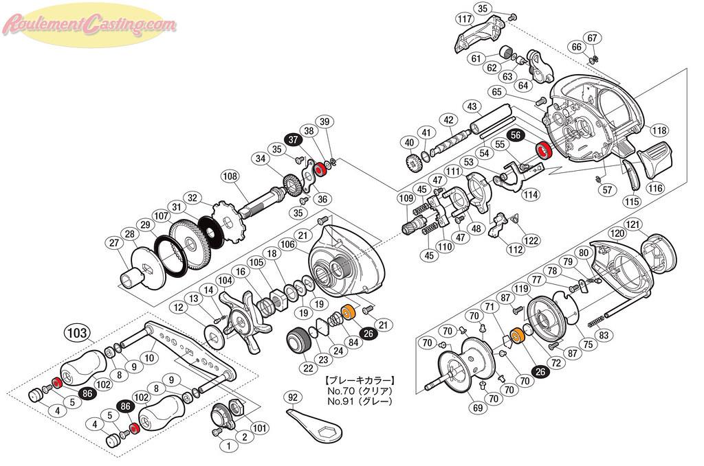 Schéma Shimano 10 Scorpion XT 1001