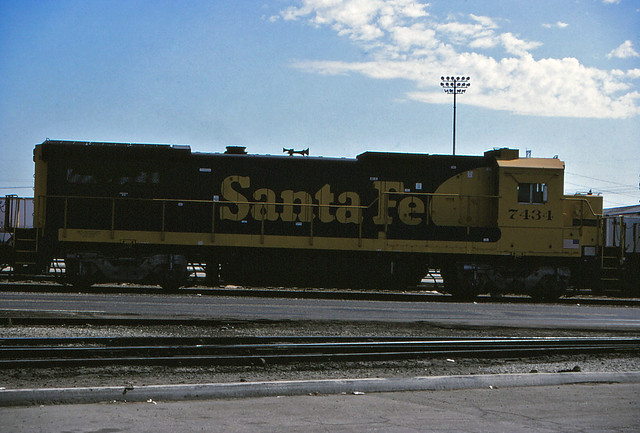 Santa Fe B40-8 No. 7434 At Hobart