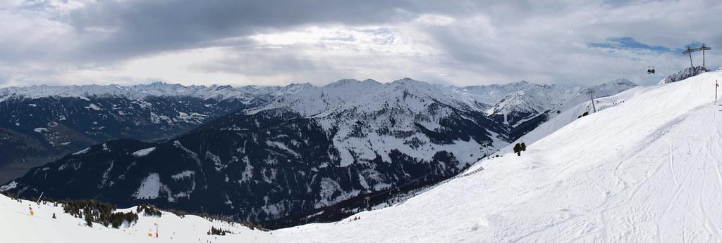 Panorama Onkeljoch, Fügen, Zillertal, Oostenrijk