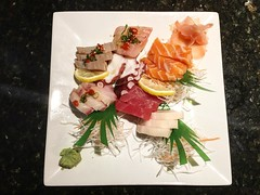 Pre-Musical performance #Sashimi at @fareastfuzion #food #friends #eatlocal #foodie #foodporn #eatwhatyoulove next stop #Evita #musicaltheatersouthwest