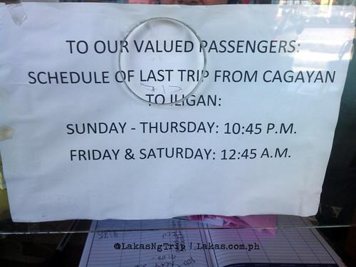 Last trip from Cagayan de Oro to Iligan City.