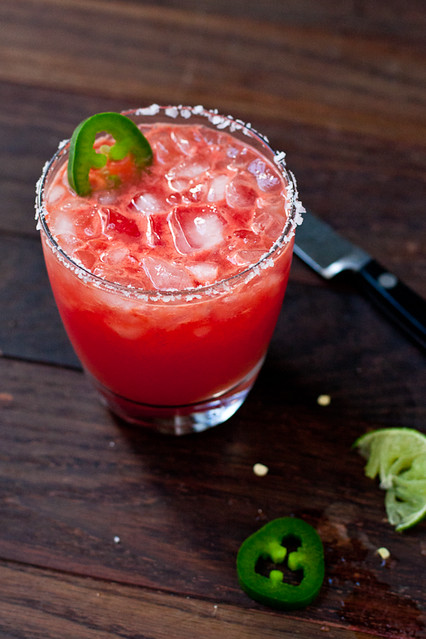 Spicy Jalapeño and Watermelon Margarita Recipe