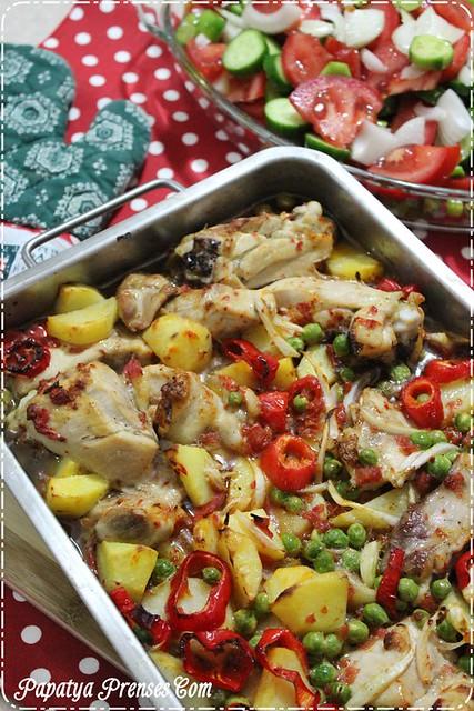 fırında sebzeli tavuk (3)