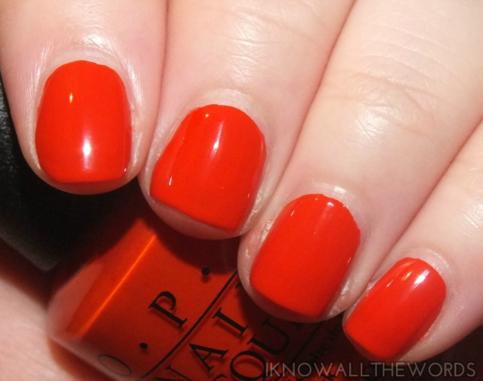 ford mustang by opi collection swatches- race red
