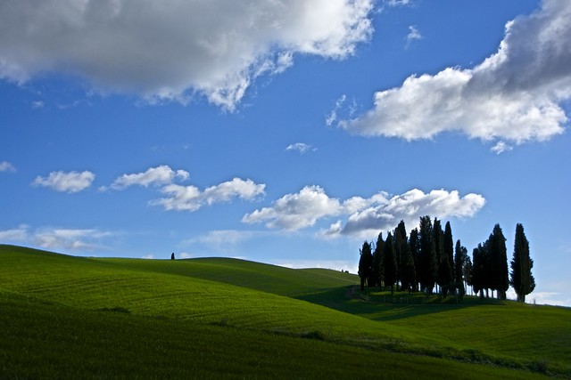 Lights and clouds in Valdorcia