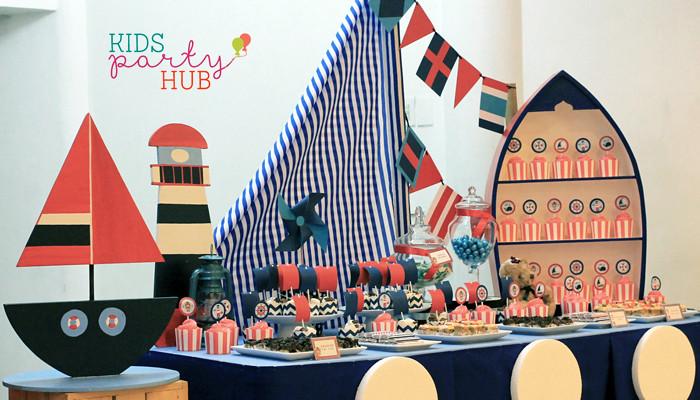 Nautical Themed Candy Buffet