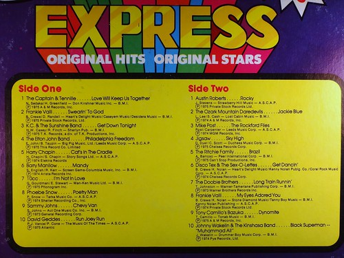 K-Tel Music Express back