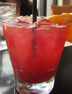 Delrae (apple cider with pomegranate juice, raspberry and housemade sweet and sour) at Wild Ginger