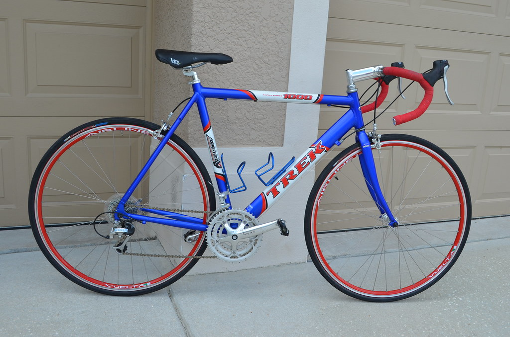 trek 1000 alpha red blue white tampa bike trader
