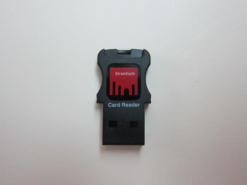 Strontium Nitro Plus MicroSDHC UHS-1 Card - MicroSD to USB Adapter Front
