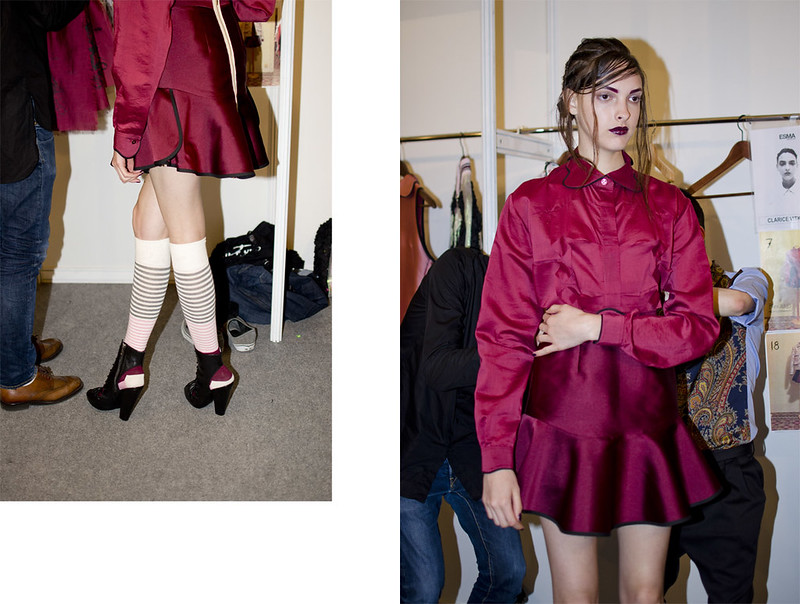 The boy with sad eyes ss15 Backstage