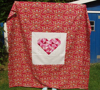 Scrappy string quilt Backing
