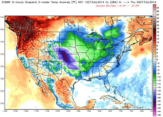 ecmwf temperature anomaly united states