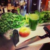The juicer at my pad is underused #organic #kale #spinach #Fuji #apple #nectarine #summer #beverage