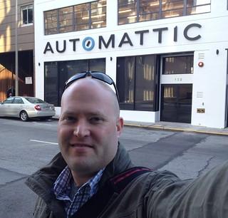 Chris at the Automattic lounge