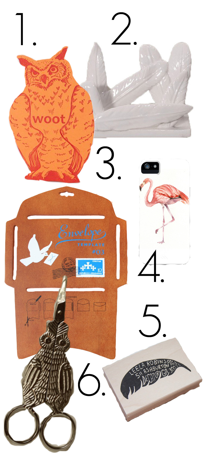 owl, scissors, stamps, birds, feathers, mail, stationary, never fully dressed, withoutastyle,