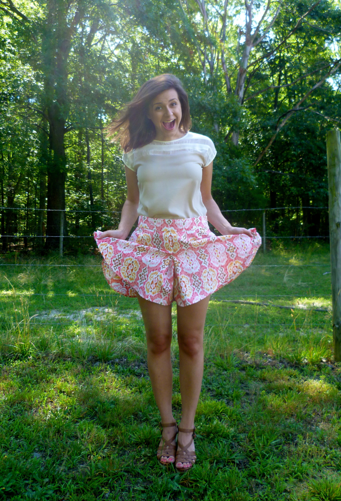 Megan Nielsen's Tania Culottes - they're shorts! by Hey It's SJ