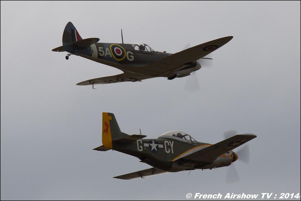 Replique Warbird : Spitfire ,P-51 Mustang, F-P FAF, Meeting Aerien BA-133 Nancy Ochey 2014