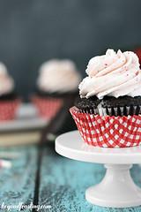 Chocolate Strawberry Cheesecake Cupcake