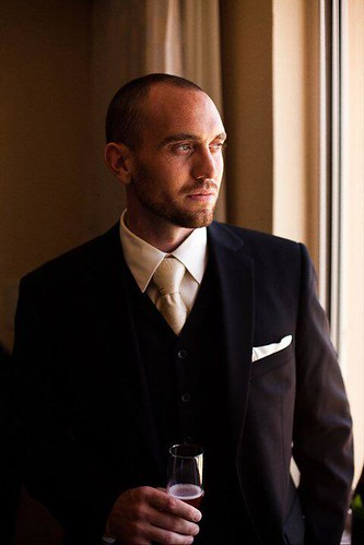 classic groom black tuxedo toast