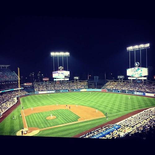 #dodgerstadium at night. #ladodgers #mlb #baseball #losangeles #kategoestocalifornia