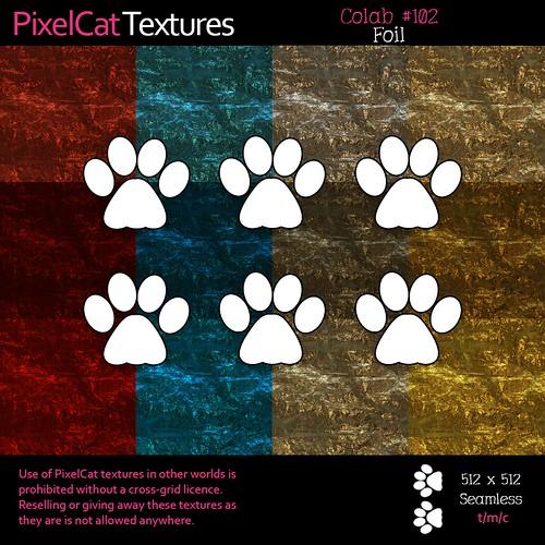 PixelCat Textures - Colab 102 - Foil