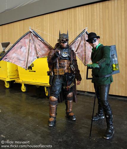 Steampunk Batman and Riddler
