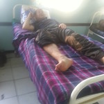 I spent all day laying on the bed with no support on my ankle at the Mazabuka District Hospital, Zambia