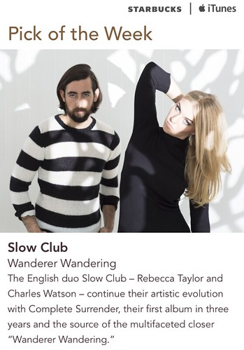 Starbucks iTunes Pick of the Week - Slow Club - Wanderer Wandering