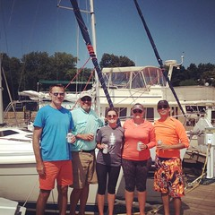 Congrats to our Cruising & Seamanship 303 participants on their return to #belmontharbor! We\'re excited to hear about their adventures! #lakemichigan
