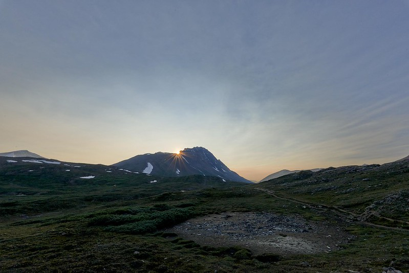 Last Sunrays on Mount Wilcox - Jasper National Park