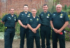 NHS staff who helped during the Surrey winter floods