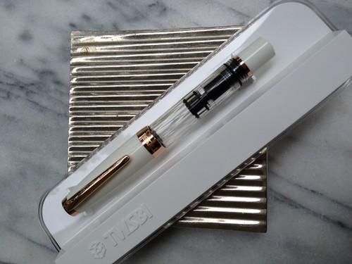 The New Twsbi Diamond Mini White Rosegold Fountain Pen