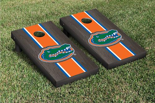 University of Florida Gators UF Cornhole Game Set Onyx Stained Stripe