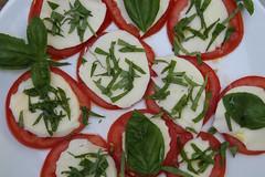 peperoncini(0.0), hors d'oeuvre(1.0), salad(1.0), vegetable(1.0), tomato(1.0), caprese salad(1.0), mozzarella(1.0), produce(1.0), food(1.0), dish(1.0), basil(1.0), cuisine(1.0),