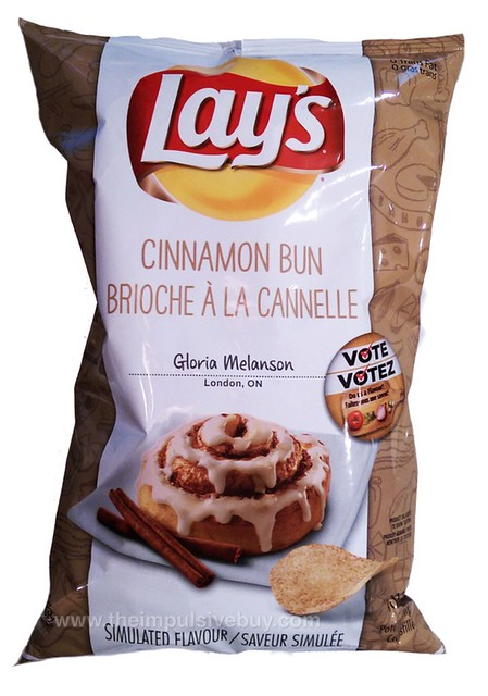 Lay's Cinnamon Bun Potato Chips (Canada)