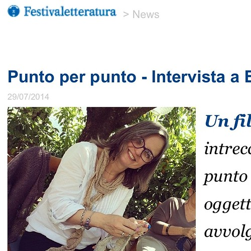 Wow :) so happy :) the interview by Festivaletteratura has been published :) Cosi felice :) È stata pubblicata l'intervista per Festivaletteratura :)