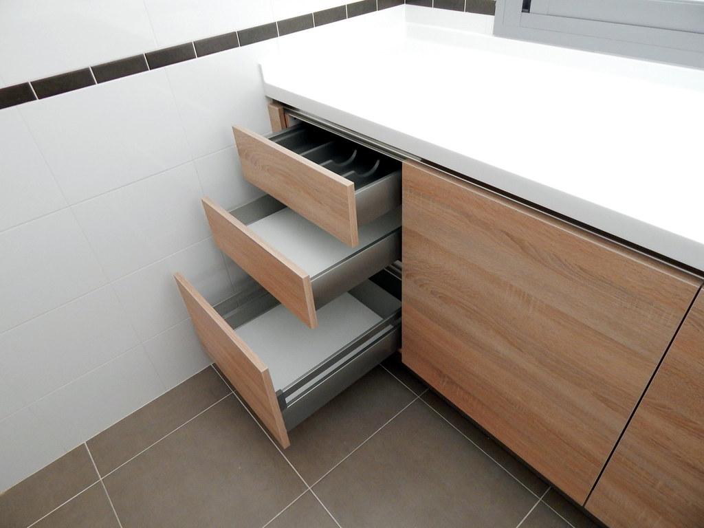 Muebles de cocina sin tiradores - Tiradores para cajones ...