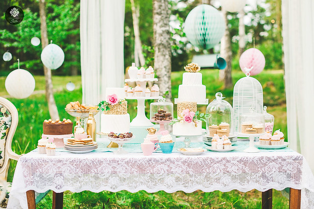 tea party dessert table