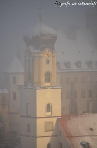 schnee winter sun snow tower clock church sunrise nikon sigma amateur kirchturm d5100